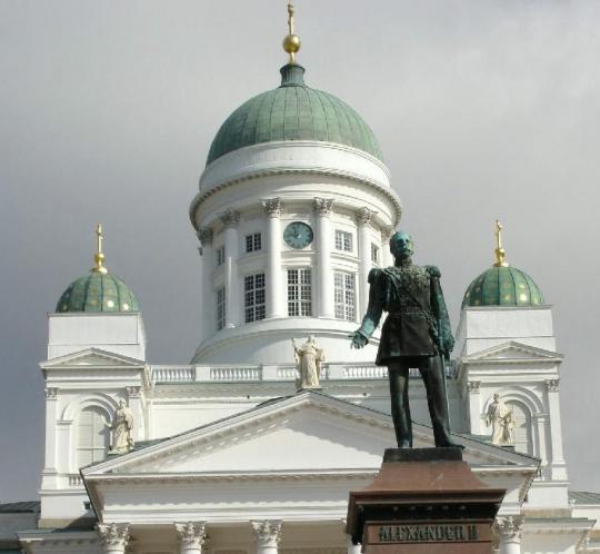 statue Alexandre II  place du Sénat   HELSINKI