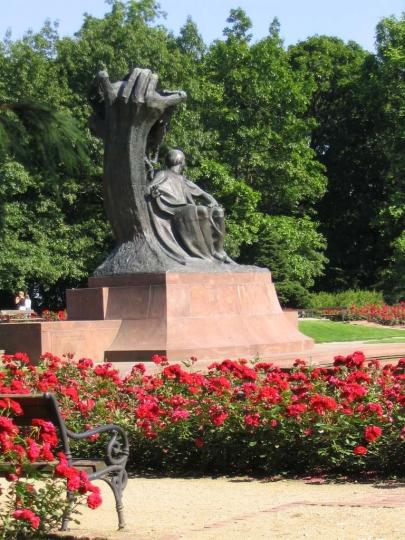 Parc lazienkowski   statue de Chopin   VARSOVIE